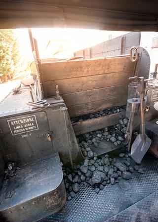 Foto de Charcoal provision for locomotive steam boiler - Imagen libre de derechos