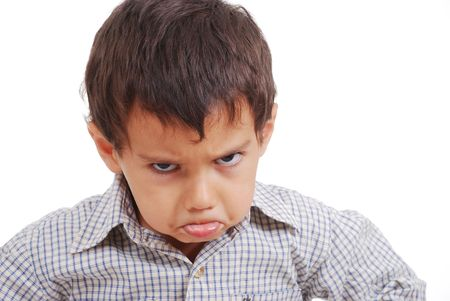Very very angry kid, great expression of emotion
