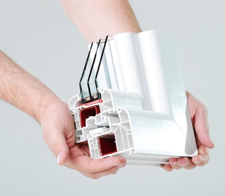 Photo pour Plastic window profile - image libre de droit
