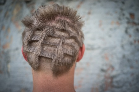 Photo for Young man closeup portrait with damaged hair - Royalty Free Image