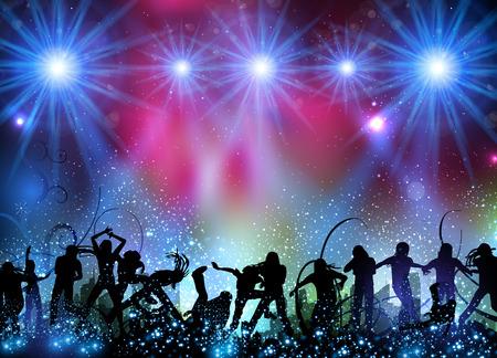 Illustration pour Party background easy all editable - image libre de droit