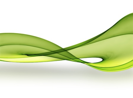 green smooth wave on a light background
