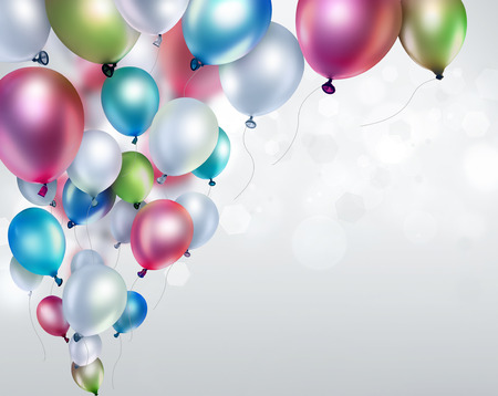 Photo for colored balloons on light blurred background - Royalty Free Image