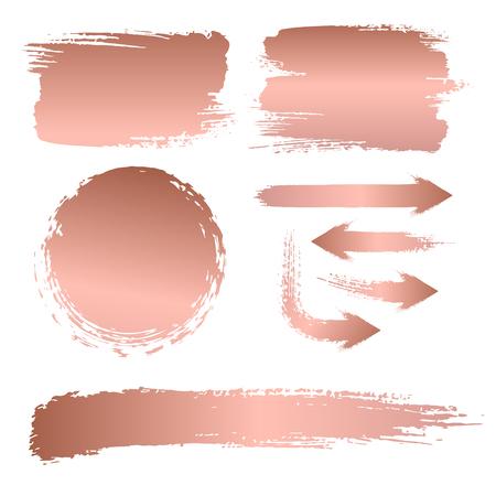 Ilustración de Set of brush strokes for the background of a billboard - Imagen libre de derechos
