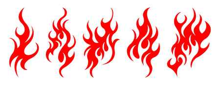 Illustration for Set of vector fire design elements - Royalty Free Image