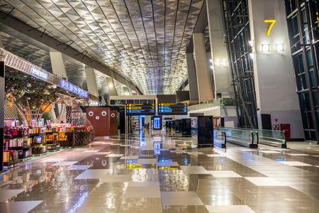 Foto de The Soekarno Hatta international airport of Jakarta, Indonesia. - Imagen libre de derechos