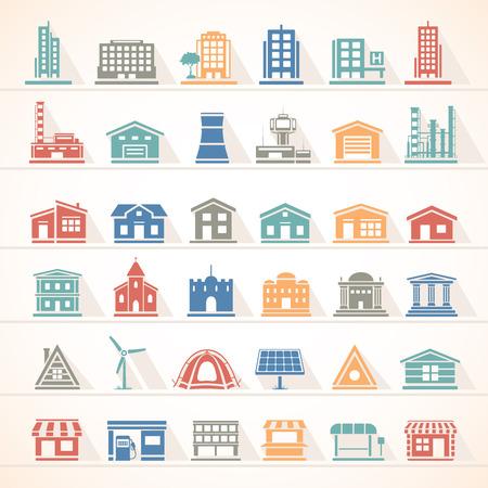 Foto de Flat Icons - Buildings - Imagen libre de derechos