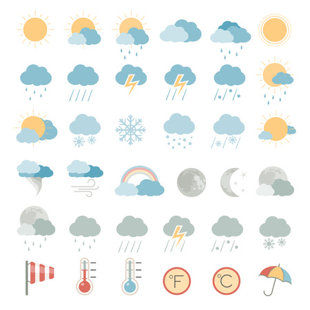 Illustration pour Flat Icons - Weather - image libre de droit