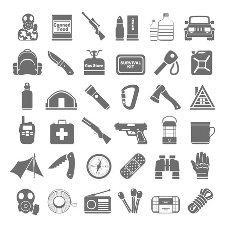 Illustration pour Black Icons - Doomsday Preppers - image libre de droit