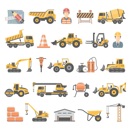 Photo pour Flat Icons - Construction - image libre de droit
