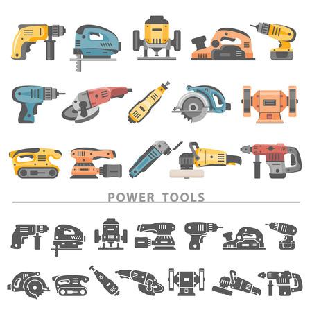 Ilustración de Flat Icons - Power Tools - Imagen libre de derechos