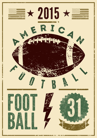 Photo pour American football typographical vintage grunge style poster. Retro vector illustration. - image libre de droit